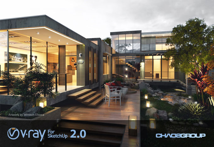 V-Ray 2.0 for SketchUp uitgebracht